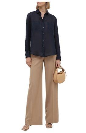 Женская рубашка GIORGIO ARMANI синего цвета, арт. 1WHCC01L/T00NW | Фото 2