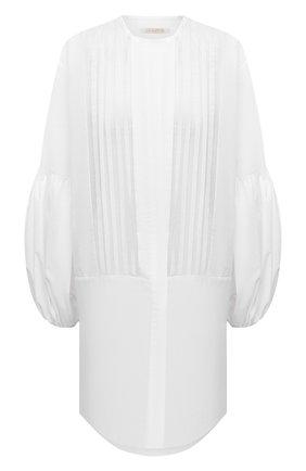 Женское хлопковое платье LILA EUGENIE белого цвета, арт. 2111 MINI | Фото 1