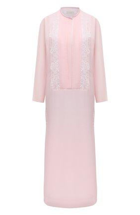 Женское платье из хлопка и шелка LILA EUGENIE розового цвета, арт. 2118 | Фото 1