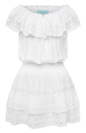 Женское платье из вискозы MELISSA ODABASH белого цвета, арт. MEL0DY | Фото 1