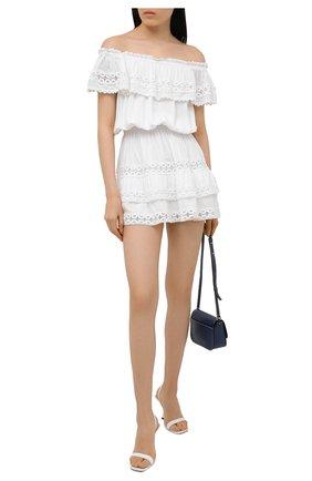 Женское платье из вискозы MELISSA ODABASH белого цвета, арт. MEL0DY | Фото 2