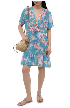 Женские шлепанцы TORY BURCH светло-розового цвета, арт. 65039 | Фото 2