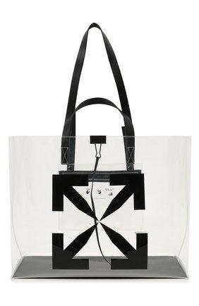 Женский сумка-шопер arrow OFF-WHITE прозрачного цвета, арт. 0MNA162S21PLA001/W | Фото 1