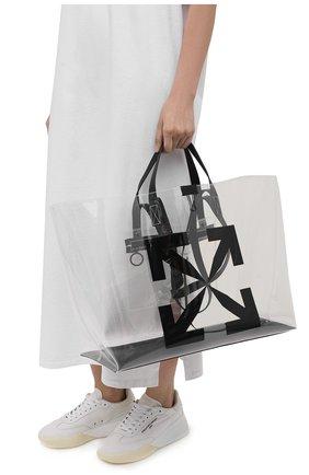 Женский сумка-шопер arrow OFF-WHITE прозрачного цвета, арт. 0MNA162S21PLA001/W | Фото 2
