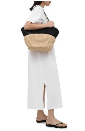 Женские резиновые шлепанцы OFF-WHITE черного цвета, арт. 0WIA219S21PLA0011000 | Фото 2 (Материал внешний: Резина; Подошва: Платформа)