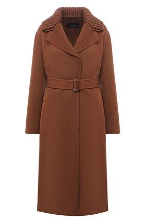 Женское кашемировое пальто LORO PIANA коричневого цвета, арт. FAL7176 | Фото 1