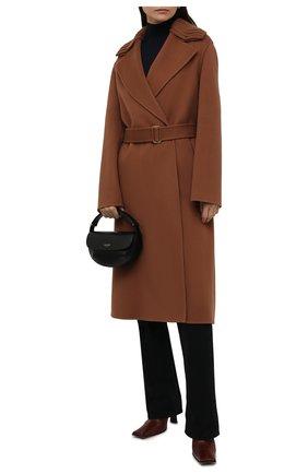 Женское кашемировое пальто LORO PIANA коричневого цвета, арт. FAL7176 | Фото 2