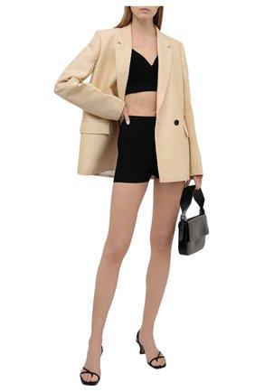 Женские шорты из вискозы VALENTINO черного цвета, арт. WB3KWA005S4 | Фото 2
