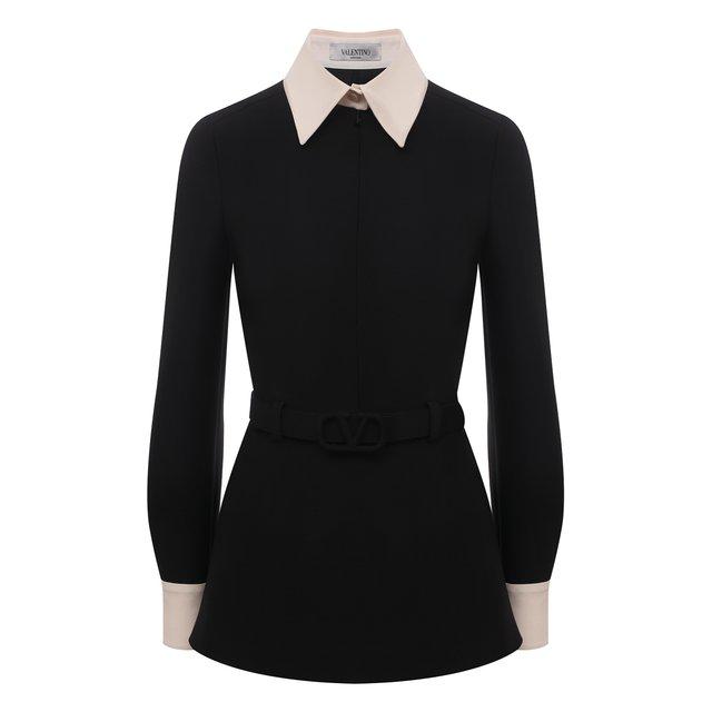 Рубашка из шерсти и шелка Valentino