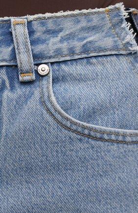 Женские джинсовые шорты REDVALENTINO синего цвета, арт. VR0DD04H/5TT   Фото 5 (Женское Кросс-КТ: Шорты-одежда; Кросс-КТ: Деним; Длина Ж (юбки, платья, шорты): Мини; Материал внешний: Хлопок; Стили: Спорт-шик)
