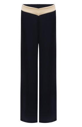 Женские шелковые брюки LANVIN темно-синего цвета, арт. RW-TR0002-4324-E21 | Фото 1