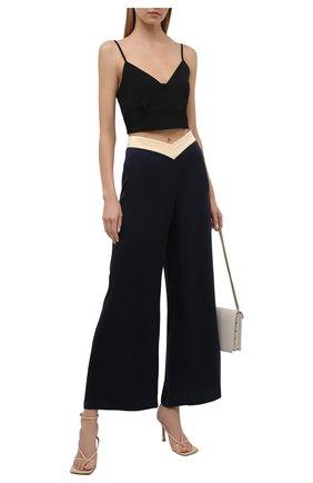 Женские шелковые брюки LANVIN темно-синего цвета, арт. RW-TR0002-4324-E21 | Фото 2