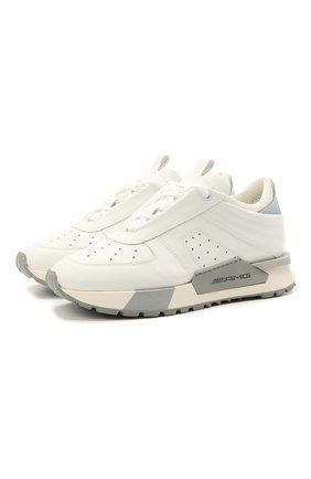 Женские кожаные кроссовки SANTONI белого цвета, арт. WSAM60824RBGGRSYI39 | Фото 1