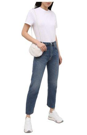 Женские кожаные кроссовки SANTONI белого цвета, арт. WSAM60824RBGGRSYI39 | Фото 2