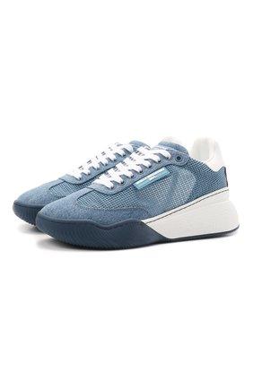 Женские текстильные кроссовки loop STELLA MCCARTNEY синего цвета, арт. 800357/N0220 | Фото 1