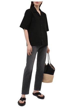 Женские комбинированные шлепанцы air STELLA MCCARTNEY черного цвета, арт. 800361/N0229 | Фото 2 (Подошва: Платформа; Материал внешний: Экокожа, Текстиль; Материал внутренний: Текстиль)