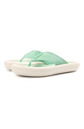 Женские комбинированные шлепанцы air STELLA MCCARTNEY зеленого цвета, арт. 800361/N0229 | Фото 1
