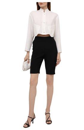 Женские кожаные босоножки tasha MICHAEL MICHAEL KORS черного цвета, арт. 40S0TAMS1L | Фото 2