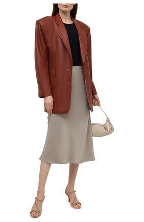Женские кожаные босоножки tasha MICHAEL MICHAEL KORS бежевого цвета, арт. 40S0TAMS1L | Фото 2