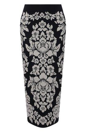 Женская юбка из вискозы и хлопка ESCADA темно-синего цвета, арт. 5034828 | Фото 1