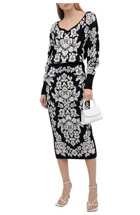 Женская юбка из вискозы и хлопка ESCADA темно-синего цвета, арт. 5034828 | Фото 2