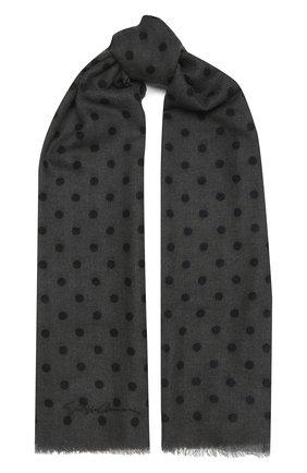 Женский кашемировый шарф GIORGIO ARMANI серого цвета, арт. 795203/1A110 | Фото 1
