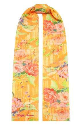 Женский шарф из кашемира и шелка RALPH LAUREN оранжевого цвета, арт. 434846357 | Фото 1