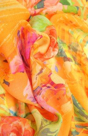 Женский шарф из кашемира и шелка RALPH LAUREN оранжевого цвета, арт. 434846357 | Фото 2