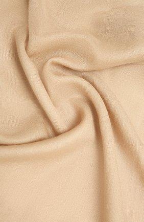 Женская шаль из кашемира и шелка GIORGIO ARMANI бежевого цвета, арт. 795300/1A101   Фото 2