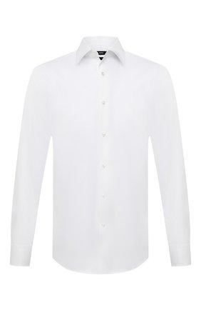 Мужская хлопковая сорочка BOSS белого цвета, арт. 50452177   Фото 1