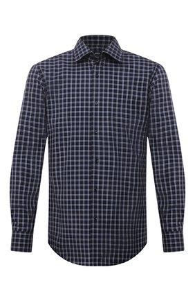 Мужская хлопковая сорочка BOSS темно-синего цвета, арт. 50453952 | Фото 1