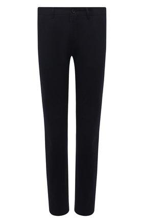 Мужские хлопковые брюки BOSS темно-синего цвета, арт. 50454408 | Фото 1