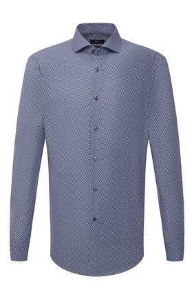 Мужская сорочка BOSS синего цвета, арт. 50454076 | Фото 1
