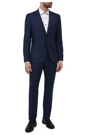 Мужской шерстяной костюм HUGO темно-синего цвета, арт. 50457373 | Фото 1