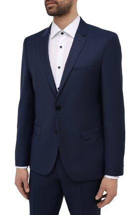 Мужской шерстяной костюм HUGO темно-синего цвета, арт. 50457373 | Фото 2
