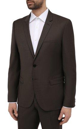 Мужской шерстяной костюм HUGO коричневого цвета, арт. 50457373 | Фото 2