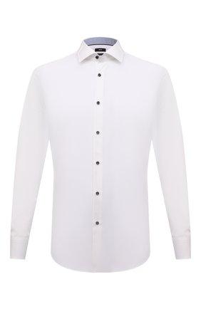 Мужская хлопковая сорочка BOSS белого цвета, арт. 50453912 | Фото 1