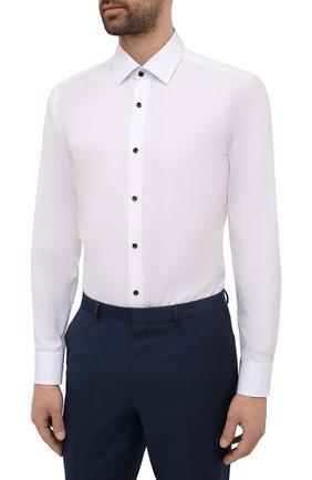 Мужская хлопковая сорочка BOSS белого цвета, арт. 50453912   Фото 3