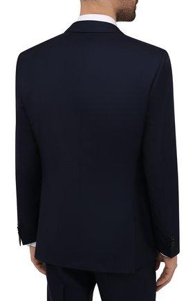 Мужской костюм из шерсти и шелка BOSS темно-синего цвета, арт. 50453680 | Фото 2