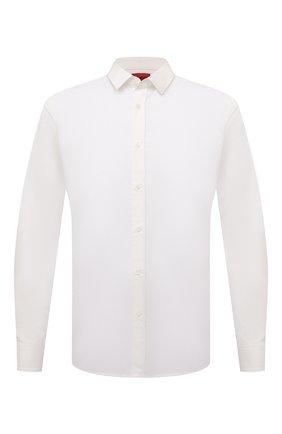 Мужская хлопковая сорочка HUGO белого цвета, арт. 50450147 | Фото 1