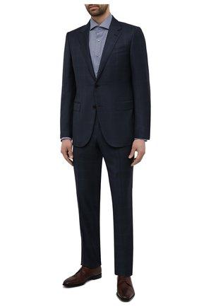 Мужские кожаные дерби BOSS коричневого цвета, арт. 50454989 | Фото 2