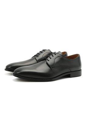 Мужские кожаные дерби BOSS черного цвета, арт. 50452040 | Фото 1 (Стили: Классический)