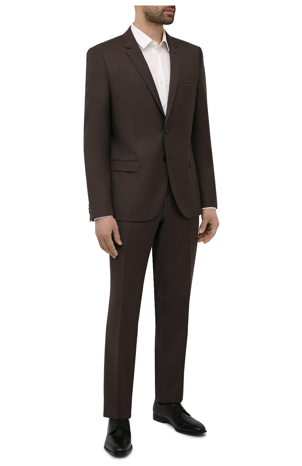 Мужские кожаные дерби BOSS черного цвета, арт. 50452040 | Фото 2