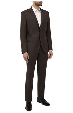 Мужские кожаные дерби BOSS черного цвета, арт. 50452040 | Фото 2 (Стили: Классический)