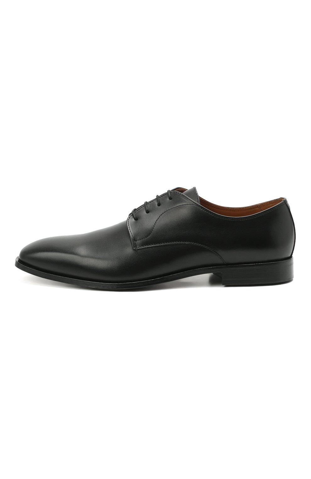 Мужские кожаные дерби BOSS черного цвета, арт. 50452040 | Фото 3