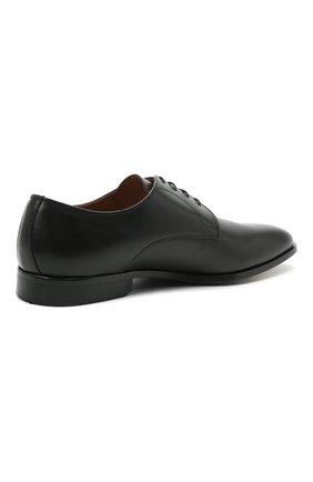 Мужские кожаные дерби BOSS черного цвета, арт. 50452040 | Фото 4