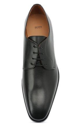 Мужские кожаные дерби BOSS черного цвета, арт. 50452040 | Фото 5