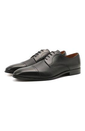 Мужские кожаные дерби BOSS черного цвета, арт. 50454989 | Фото 1 (Стили: Классический)