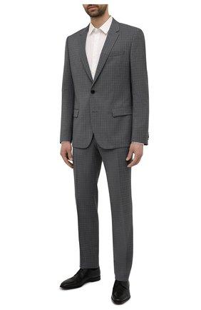 Мужские кожаные дерби BOSS черного цвета, арт. 50454989 | Фото 2 (Стили: Классический)
