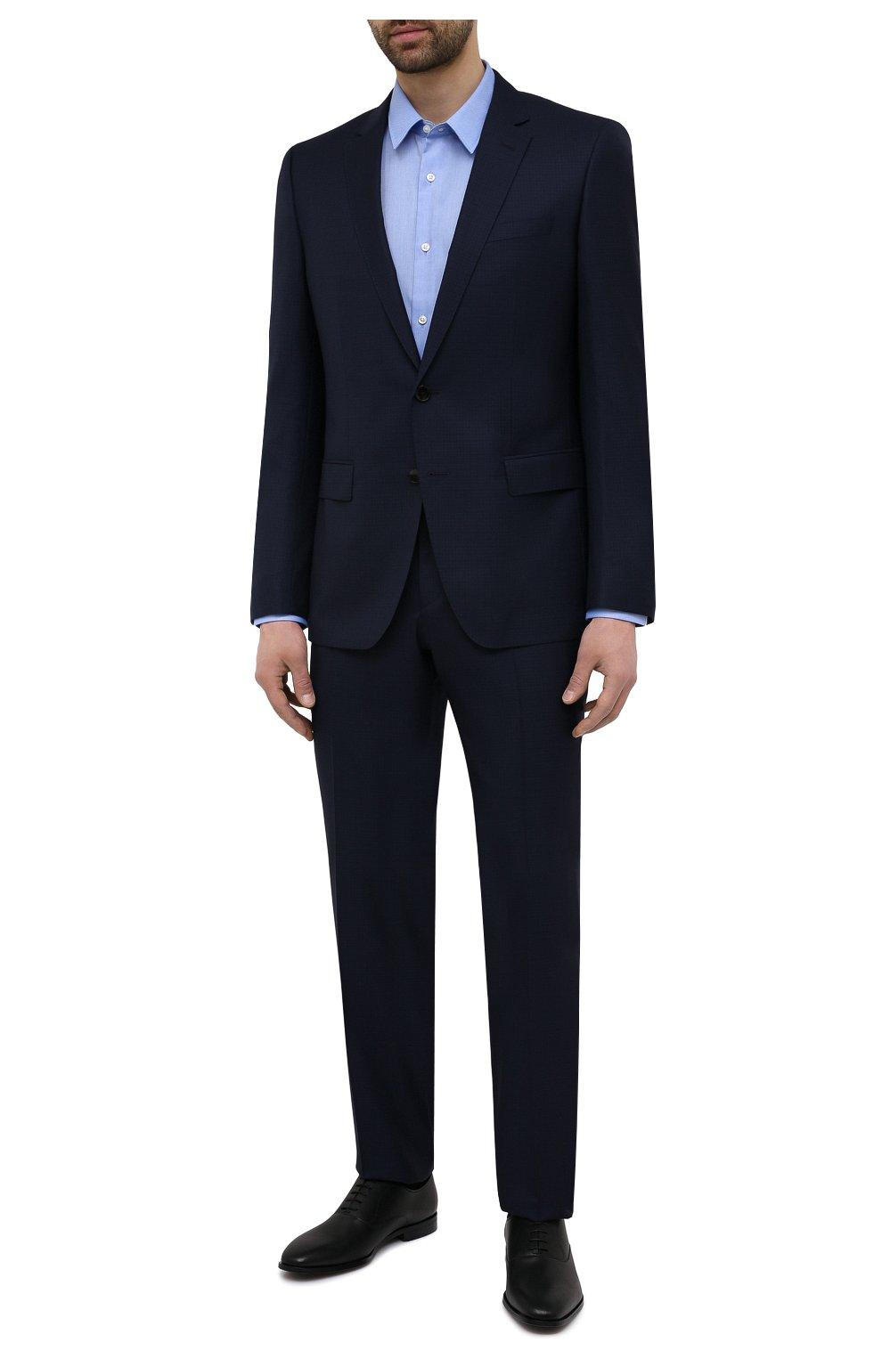 Мужские кожаные оксфорды BOSS черного цвета, арт. 50454993   Фото 2